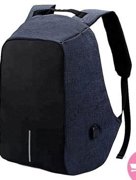 Anti-theft Laptop Backpack Bag - Grey,Black