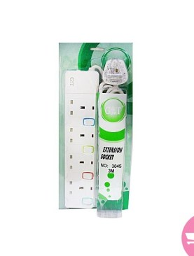 Original Quality G&T 13A 4-Way Extension Socket - White