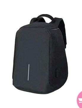 Anti-theft Waterproof Laptop Backpack with USB Charger - Black