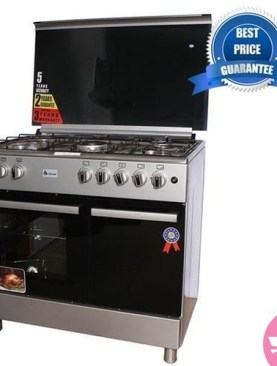 Gas Cooker + Gas Oven 90*60cm - ET905G - Silver