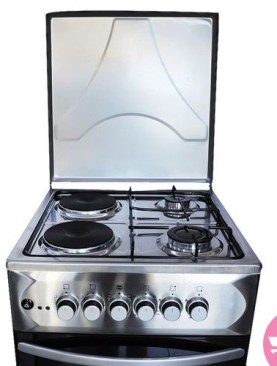 Blueflame S5022E-I-R - Cooker 50x55cm 2+2 Electric Oven - Stainless steel