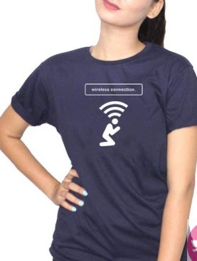 Lets connect t-shirt-Blue.
