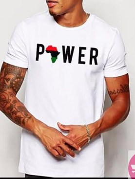 The mighty power of Africa t-shirt-White.