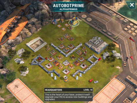 Another level 10 base, this one about equivalent to the previous base. Unlike the prior base, you can possibly use Orbital strikes to efficiently take out the beam and mortars. Aim along the wall and you should get both a mortar and a beam in one shot.