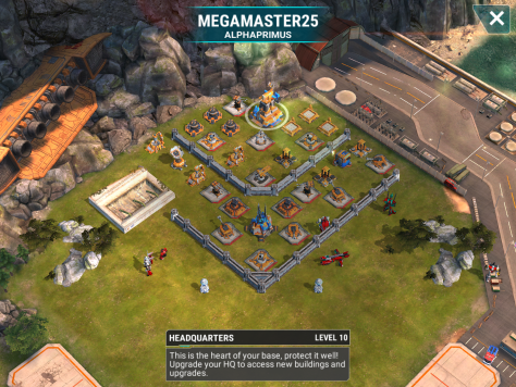 We get to be the big bad bullies this war. Nearly all of the bases are level 10 bases. So, this base is close to maxed for a level 10 base. It features level 6 and 7 mortars. It also has a level 4 beam. Unfortunately for it, it is still a level 10 base. The spread here is significant enough to make Slipstream or Mixmaster a poor choice of main offense. So, either use fliers or warrior attacks to take out the mortars and beams.