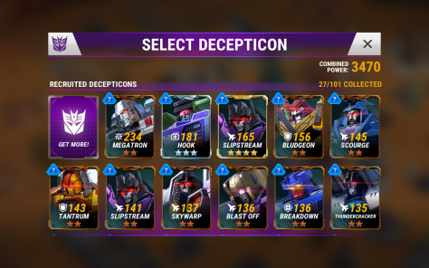 Eshrel's selection of Decepticons