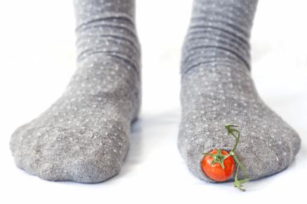 calcetín con tomate 3