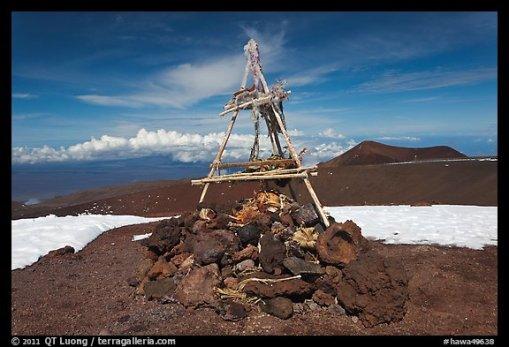 Altare sul monte Mauna Kea