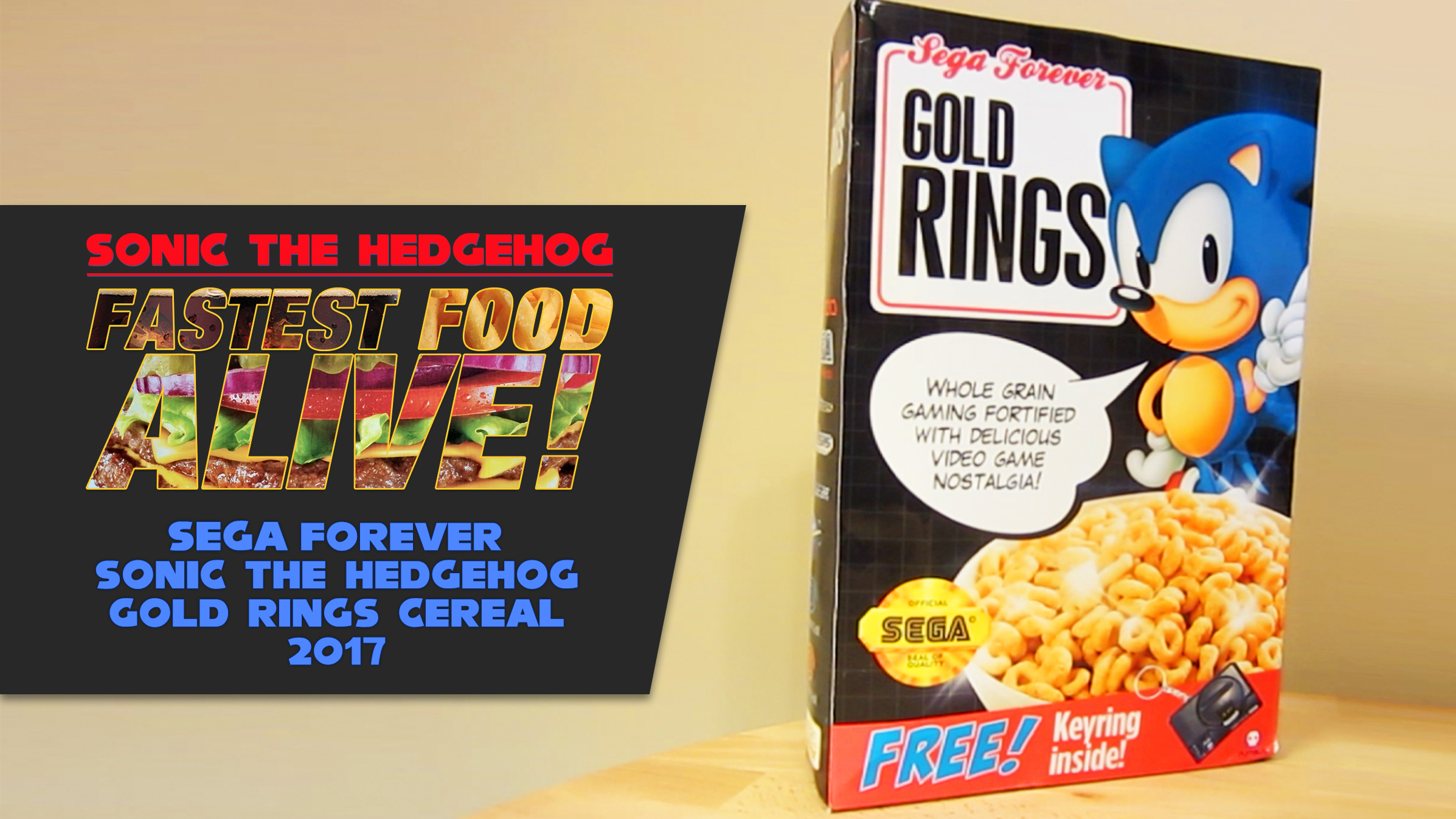 Fastest Food Alive Unboxing SEGA Forever Sonic The