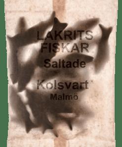 Kolsvart Lakrits Fiskar Saltade