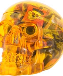 Halloweenskalle - Gul