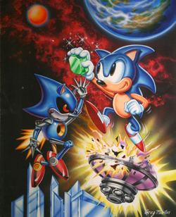 Sonic CD American Cover by Greg Martin