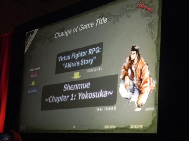 Shenmue got named like that until 1999