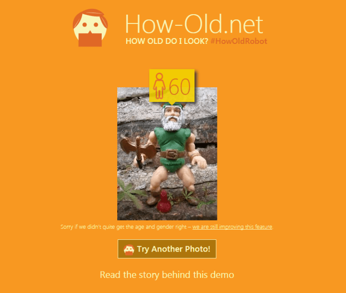 MS Age: 60. Actual Age: Unknown. Sounds about right.