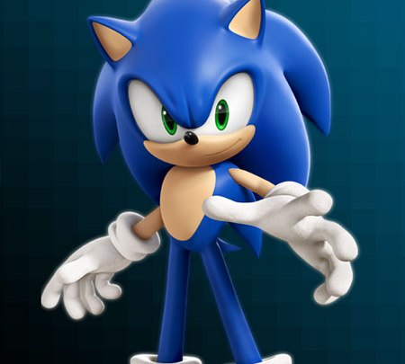 """Sonic the Hedgehog as seen in """"Wreck-It Ralph"""""""