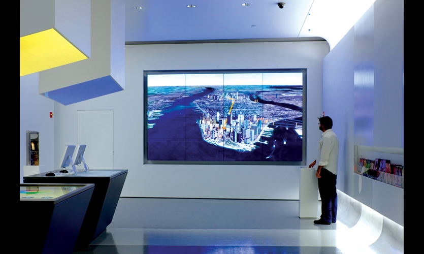users can also broadcast their itineraries via a google earth flythrough projected on a huge video