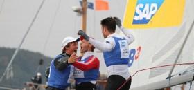 Malte Kamrath siegte 2011 beim STG Champions Cup auf Laser SB3. Diesmal steuert Simon Grotelüschen. © NRV/Peter Kähl