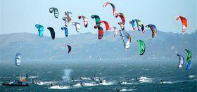 Kiteboard Fleetrace. Die Drachenflieger heben in Rio ab. © kiteboard.org