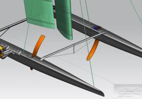 Wird derzeit auf die Foiler gelegt: Hydroptère.ch-Katamaran für den Little America's Cup. © Hydros
