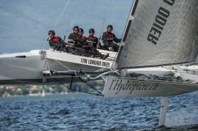 Das junge Hydroptère.ch-Team mit Helmen – besser is' das!©maxxcomm