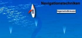 """Mit offenem Segel bei der """"Navigationstechnik Gegenwindkreuzen"""". © ARD"""