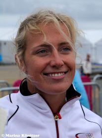 Moana Delle kann auch nach dem unglücklichen Medalrace schnell wieder lachen. © Marina Könitzer