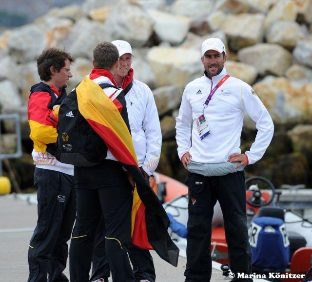 Das Trainerteam in schwarzrotgold. © Marina Könitzer