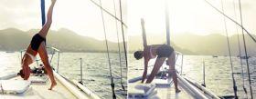Nicht einfach. Yoga auf dem schwankenden Vorschiff. © sailingaroundtheglobe.blogspot.com