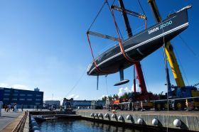 "4,40 m tief gehender T-Kiel und säbelförmiges Ruderblatt: Die Swan 90S ""Freya"" © Eva-Stina Kjellman"
