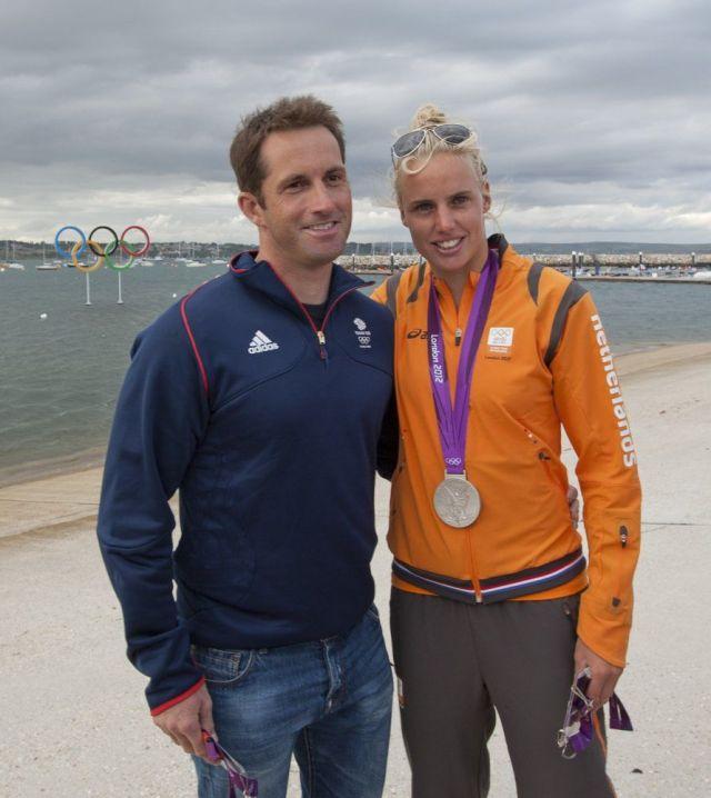 Ben Ainslie und Marit Bouwmeester, das Glamour Paar im Olympischen Segelsport. © onEdition