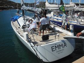 """Die Swan 60 """"Emma"""" landete beim Rolex Cup auf Rang drei von sechs gleichen Schiffen. © Nord Stream Race"""