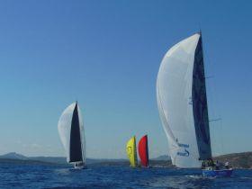 Die neue One-Design-Swan-60-Flotte vor Porto Cervo. © Nord Stream Race
