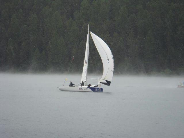 Nebel am Morgen. Das Wasser ist noch wärmer als die Luft. © stmoritz-matchrace