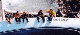 Die Low Speed Chase kurz nach dem Start beim Farrallon Full Crew Race, April 2012©privat