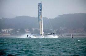 Da wird's selbst gestandenen Speed-Surfern etwas mulmig! © Christophe Launay