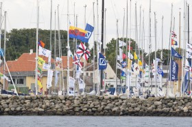 Flaggenmeer im Hafen von Ærøskøbing © stockmaritime.com