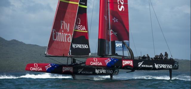 Protest gewonnen – die Neuseeländer dürfen ihre Foilerschwerter behalten © Team Emirates NZL