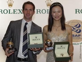 Ben Ainslie und die Chinesin Lijia Xu sind die Weltsegler des Jahres 2012. © Rolex / Kurt Arrigo