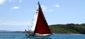 """Die """"Marianne"""" unter Vollzeug, irgendwo vor Afrika © sailing conductors"""