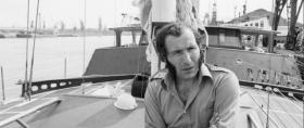 Alain Colas kurz vor dem Start zur OSTAR 1976 © OSTAR