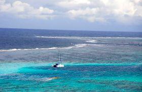 Blick über das Riff an der Ostseite von Moorea. © Eitzinger