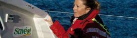Die einzige Frau bei der Vendée Globe gehörte zu den Attraktionen der Flotte. © Sam Davies/Saveol