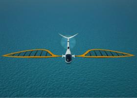 Segeln, Zukunft, Vision, segelndes Flugzeug
