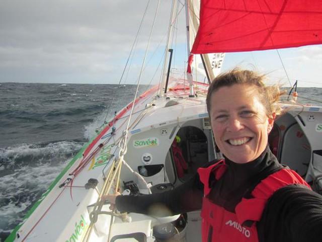 Die britsche Skipperin freut sich auf Zuhause. © Davies