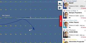 Vendée Globe am 22.12. Francois Gabart liegt vorne.