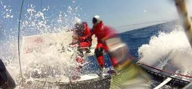 Das Katamaran-Duo lag 11 Stunden vor dem Atlantik-Rekord als das Ruder brach. © jrata.ch