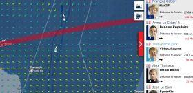 Vendée Globa am 17.1. Die ersten beiden Boote haben die Doldrums passiert
