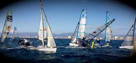 49er FX Chaos beim Mallorca Training