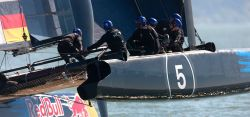 Das STG/NRV Team beim Red Bull Youth America's Cup