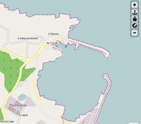 Der Hafen von San Ciprian
